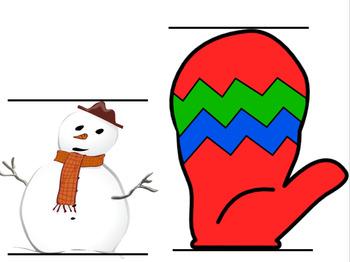 Winter Clipart Measurement Activity