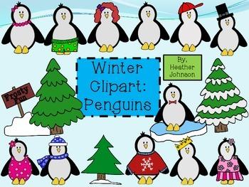 Winter Clipart: Penguins