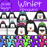 Winter Clipart - Penguins {Jen Hart Clipart}