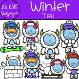 Winter Clipart - Yeti {Jen Hart Clipart}