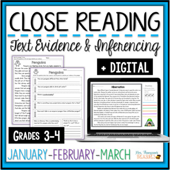 Close Reading - January, February, March