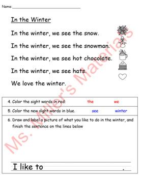 Winter Close Reading Passages