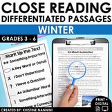 Reading Comprehension Passages Winter Close Reading - Goog