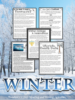 Winter Close Reading & Writing Passages; Text-Dependent Qu