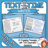 Winter Close Reading  and Comprehension Passages for Print or Google Classroom