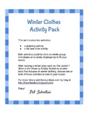 Winter Clothes Activity Pack