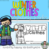 Winter Clothes - Beginning Reader Book and Activity