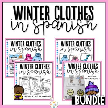 Winter Clothes in Spanish Bundle - Ropa de Invierno