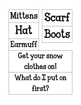 Winter Clothes Chart