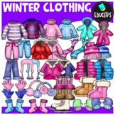 Winter Clothing Clip Art Bundle {Educlips Clipart}
