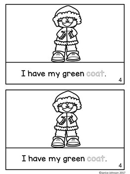 Winter Clothes Clothing Reader for Young Learners + BOOM™ Version w Audio