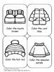 Winter Clothes Colouring Sheet