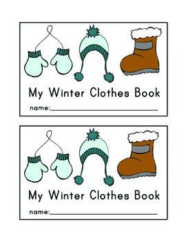 Winter Clothes Emergent Reader