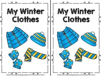 Winter Clothes Emergent Reader & Centers
