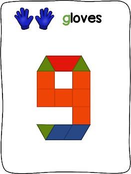 Winter Clothes - English - Pattern block activity mats