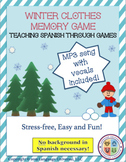 Spanish Winter Clothes Memory Game!