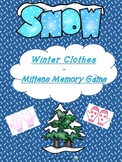 Winter Clothes – Mittens Memory Game