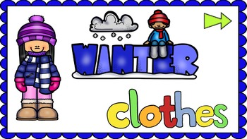 Winter Clothes - NO PREP Lesson - Interactives & Worksheets