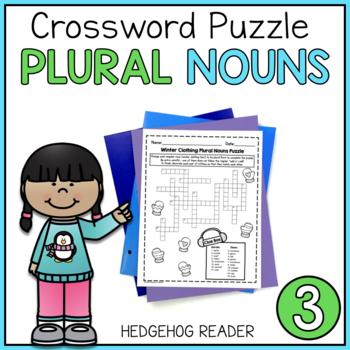 Winter Clothes Plural Nouns Puzzle - Common Core Grade 3