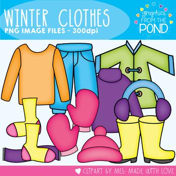 Winter Clothes Set - Clipart Super Set for Teachers