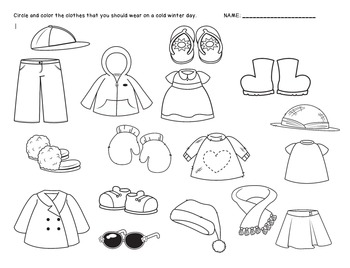 winter clothes sorting worksheet freebie by grumpy dumpling tpt. Black Bedroom Furniture Sets. Home Design Ideas