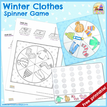 Winter Clothes Spinner Game!