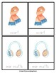 Winter Clothes Watercolor Montessori 3-Part Cards