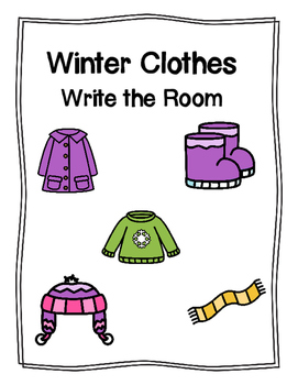 Winter Clothes Write the Room
