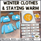 Winter Clothes Activities for Preschool, Pre-k and Tots