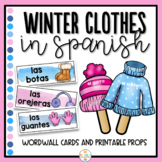 Winter Clothes in Spanish Word Wall and Props - Ropa de Invierno
