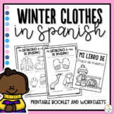 Winter Clothes in Spanish Worksheets - Ropa de Invierno