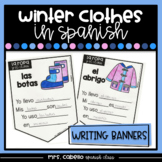 Winter Clothes in Spanish Writing Banners - Ropa de Invierno