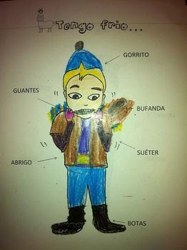 Winter Clothes in Spanish comic strip (Peru)