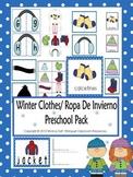 Winter Clothes/Ropa De Invierno Preschool Pack