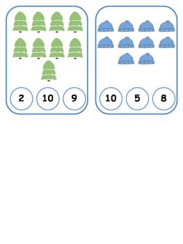Winter Clothespin Counting 1-10 {FREEBIE}