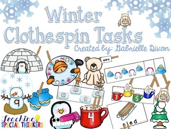 Winter Clothespin Tasks