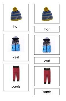 Winter Clothing (3 Part Montessori Cards)