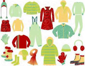 Winter Clothing Clipart Set by Poppydreamz