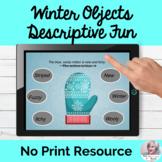 Winter Objects Descriptive Language Fun Lesson Teletherapy NO PRINT