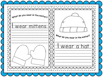 Winter Clothing and Body Part /Sight Word Emergent Readers Pack (Differentiated)