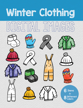 Winter Clothing Digital Images (Clip Art)