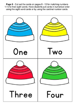 Winter Clothing: Dress a Kid, Sight Words, Big/Little, Colors Numbers Sort Match