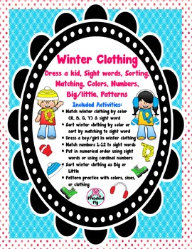 e101f2b22906 Winter Clothes Dress Up Worksheets   Teaching Resources