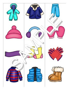 Winter Clothing FOREIGN LANGUAGE Games (Spanish, Italian, German)