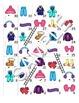 Winter Clothing FOREIGN LANGUAGE Workbooks & Games pack Spanish,Italian,German