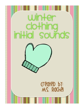 Winter Clothing - Initial Sounds