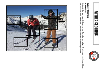 Winter Clothing Interactive Notebook Page
