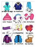 Winter Clothing / Les Vetements FRENCH Workbook & Games Package