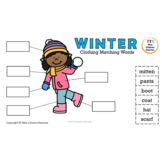Winter Clothing Matching Words