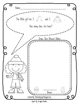 Winter Clothing Math Problem Solving Fun